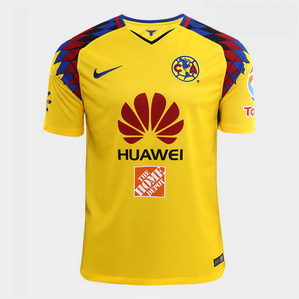 Camiseta 3ª Kit Club América 2017 2018 Amarillo