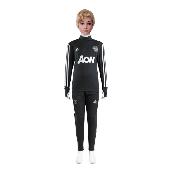 Chandal Niños Manchester United 2017 2018 Gris Marino
