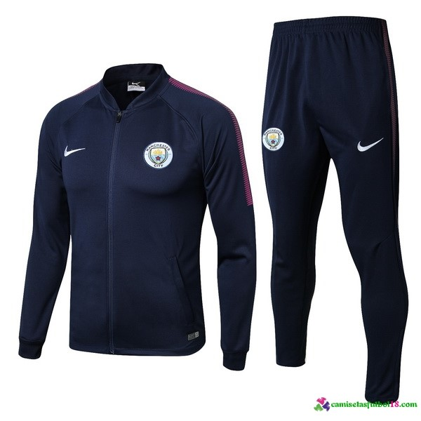 Chandal Manchester City 2017 2018 Azul Rosa
