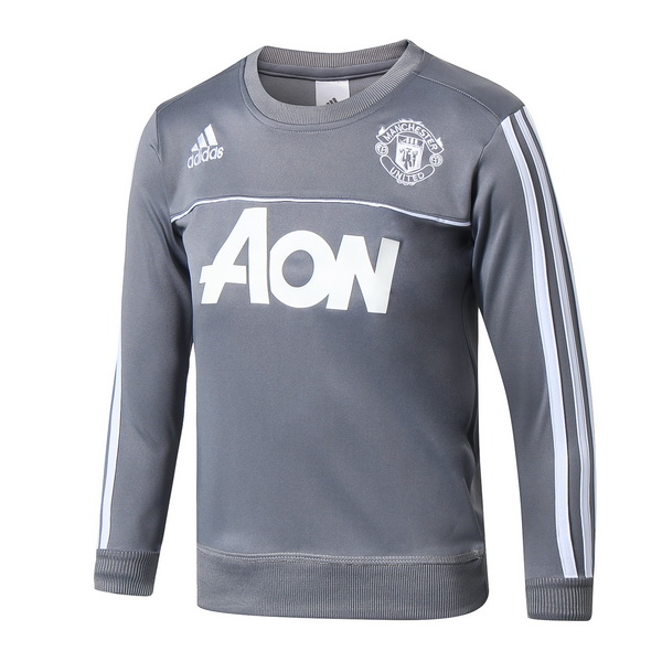 Chandal Niños Manchester United 2017 2018 Gris