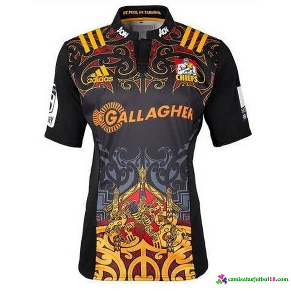 Camiseta Rugby 1ª Chiefs 2017 Negro