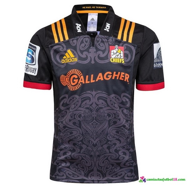 Camiseta Rugby 1ª Chiefs 2018 Negro