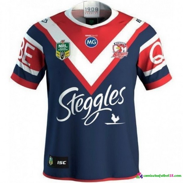 Camiseta Rugby 1ª Sydney Roosters 2018 Azul