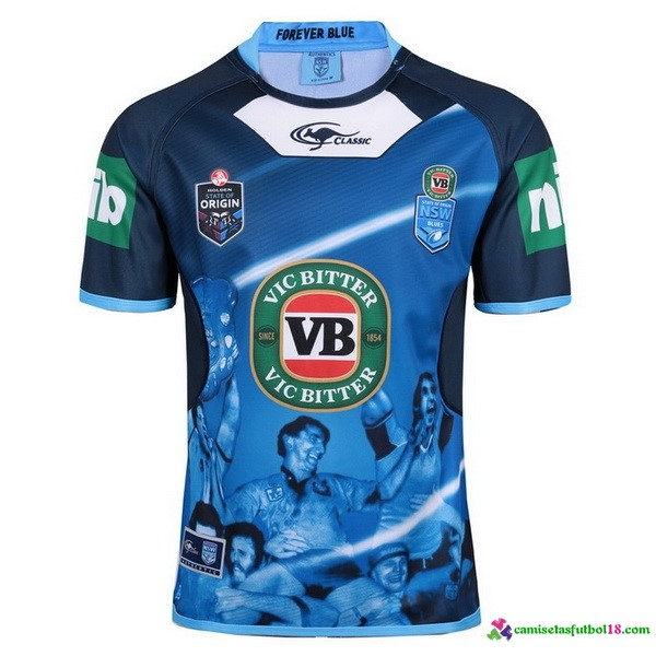 Camiseta Rugby Capitanes de True Blue NSW Blues 2017 Azul