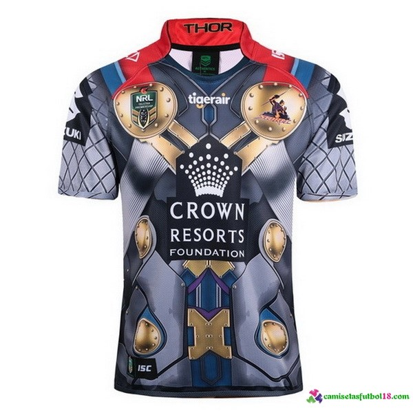 Camiseta Rugby Thor Melbourne Storm 2017 Gris