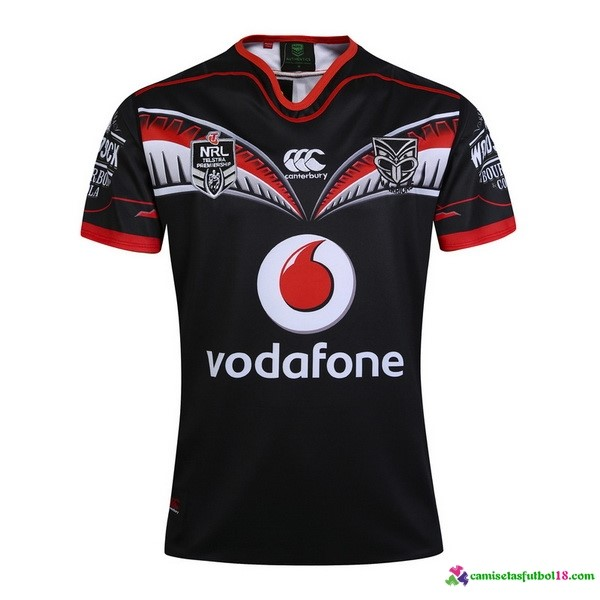 Camiseta Rugby 1ª Warriors 2017 Negro