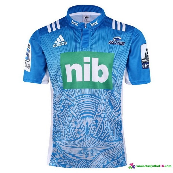 Camiseta Rugby 2ª Blues 2017 Azul