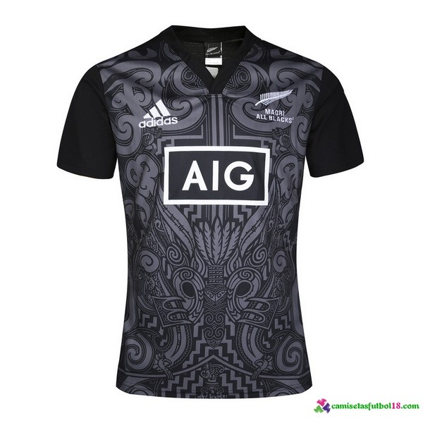 Camiseta Rugby All Blacks 2016 Negro