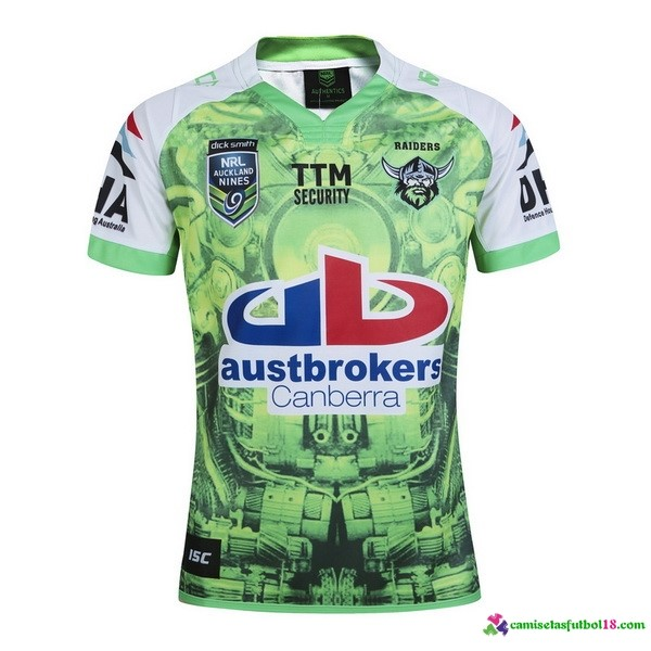 Camiseta Rugby Canberra Raiders 2016 Verde
