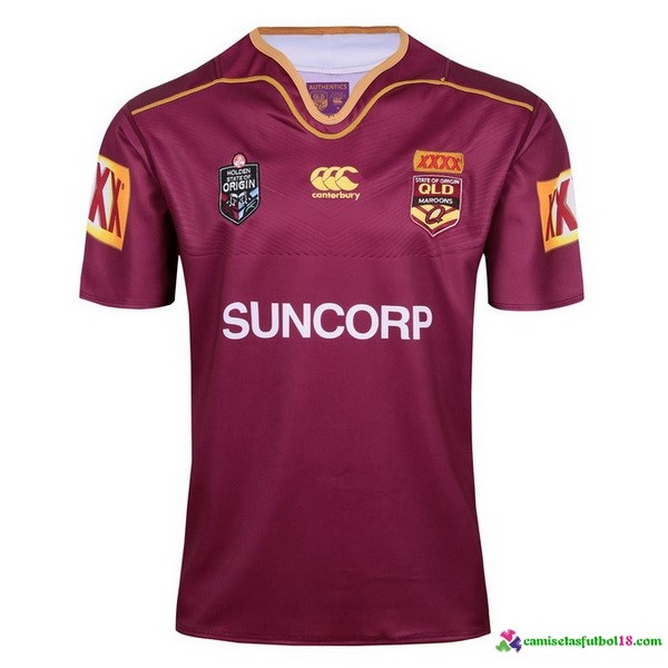 Camiseta Rugby QLD Maroons 2017 Rojo