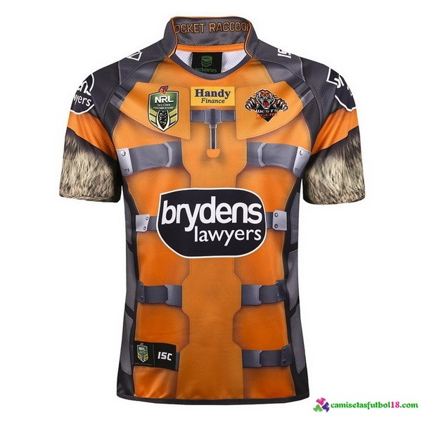 Camiseta Rugby Wests Tigers 2017 Amarillo