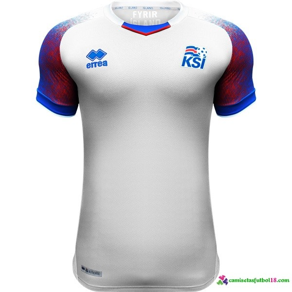 Camiseta 2ª Kit Islandia 2018 Blanco