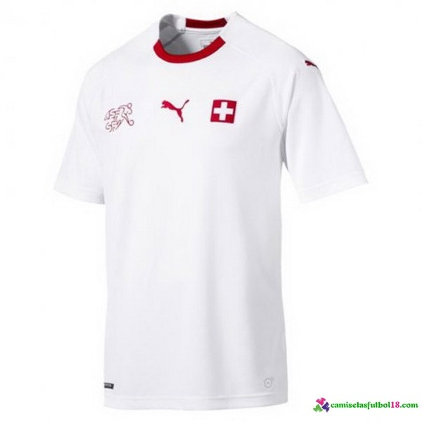 Camiseta 2ª Kit Suiza 2018 Blanco