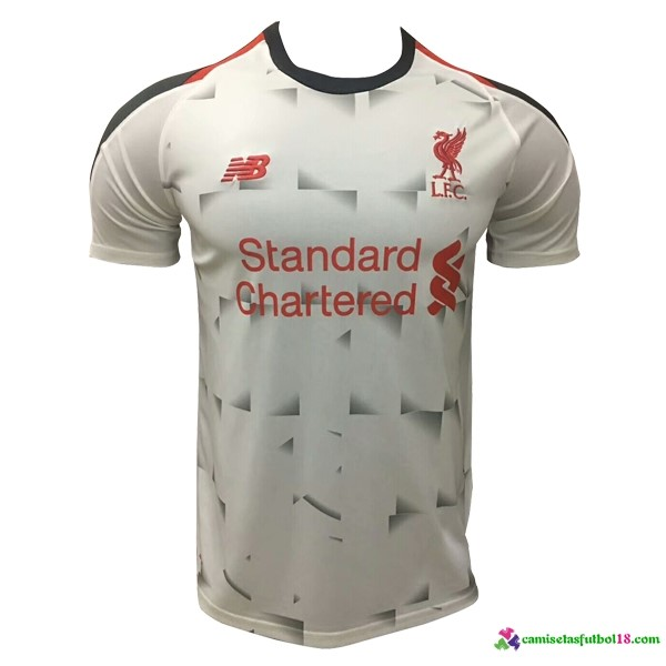 Camiseta 2ª Kit Liverpool 2018 2019 Blanco