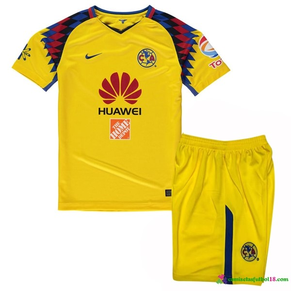 Camiseta 3ª Kit Niños Club América 2017 2018 Amarillo