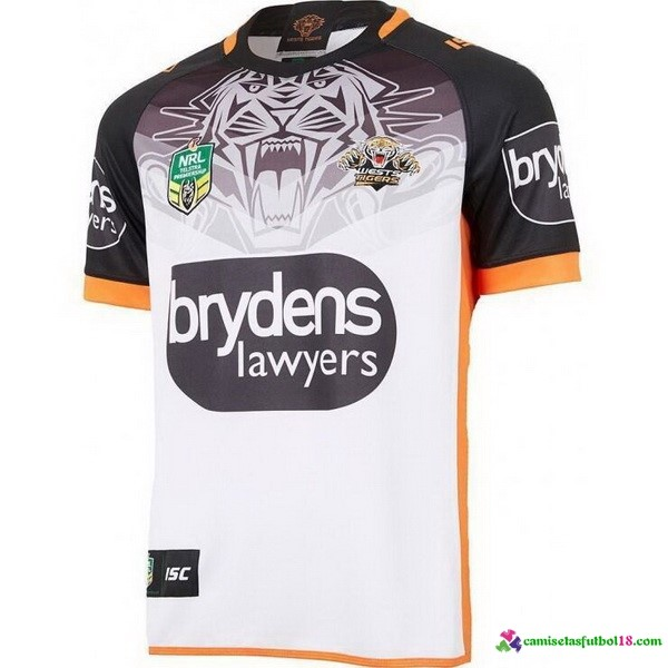 Camiseta Rugby 2ª Kit Wests Tigers 2018 Blanco