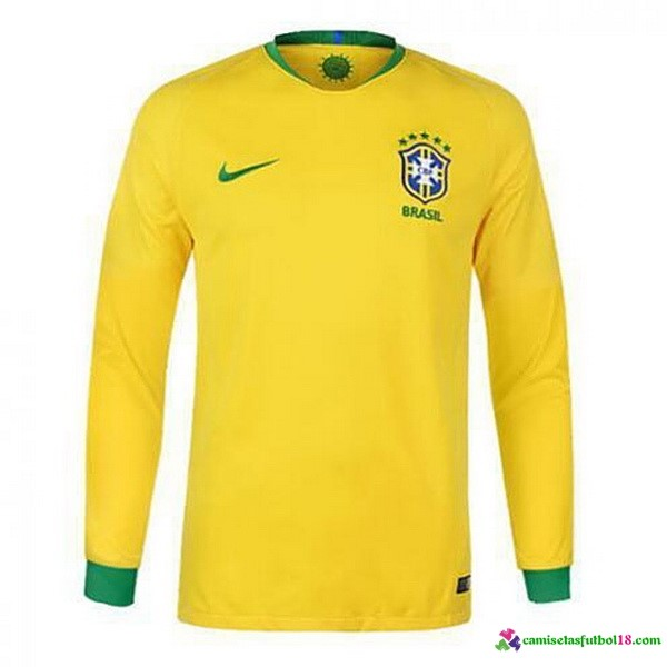 Camiseta 1ª Kit Brasil ML 2018 Amarillo