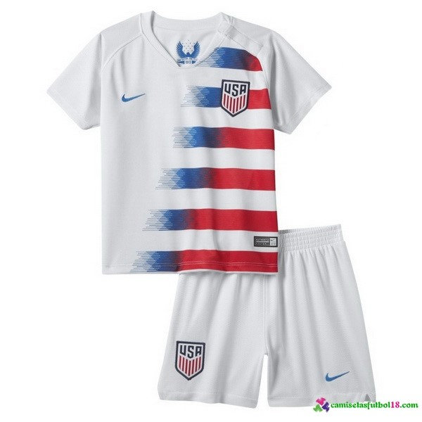 Camiseta 1ª Kit Estados Unidos Niños 2018 Blanco