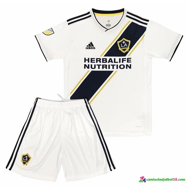 Camiseta 1ª Kit Los Angeles Galaxy Niños 2017 2018 Blanco