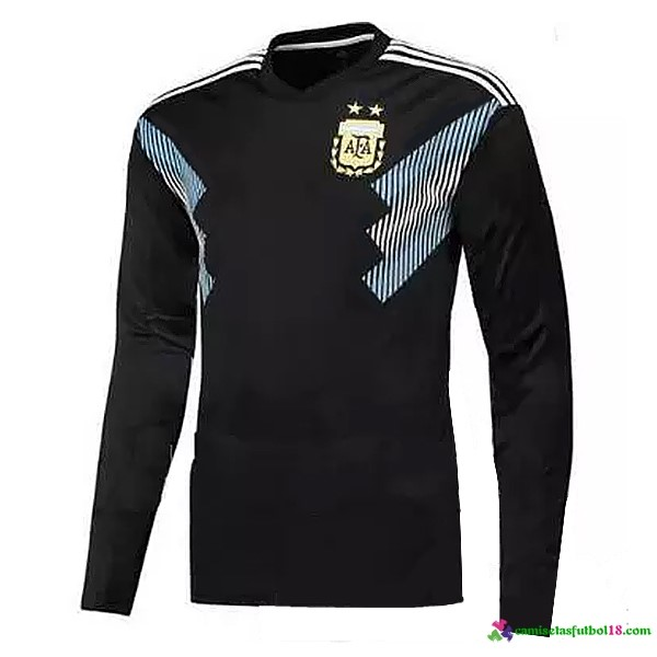 Camiseta 2ª Kit Argentina ML 2018 Negro Azul