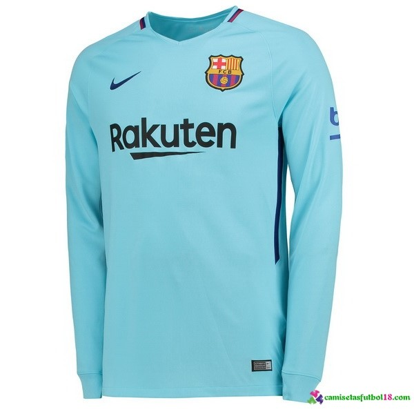 Camiseta 2ª Kit Barcelona ML 2017 2018 Azul
