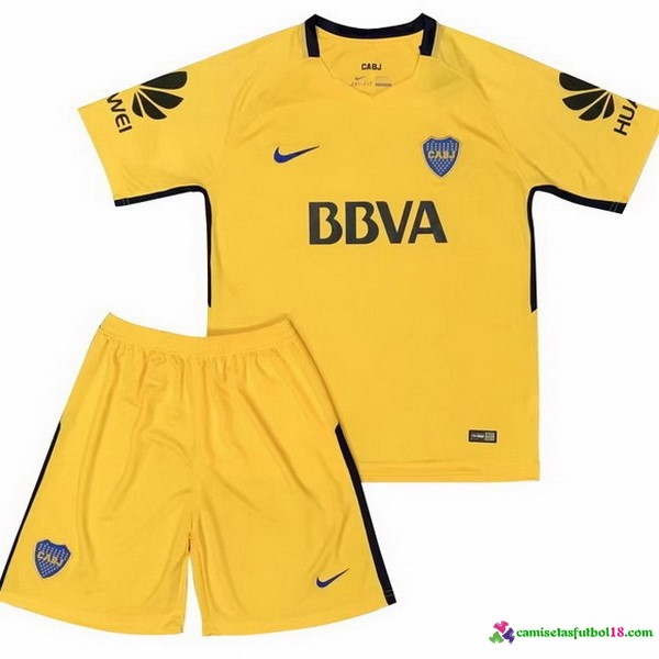 Camiseta 2ª Kit Boca Juniors Niños 2017 2018 Amarillo