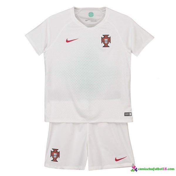 Camiseta 2ª Kit Portugal Niños 2018 Blanco