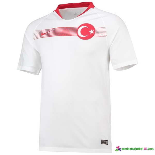 Camiseta 2ª Kit Turquía 2018 Blanco