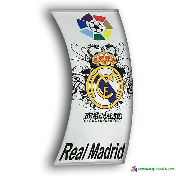 Futbol Bandera Real Madrid Blanco