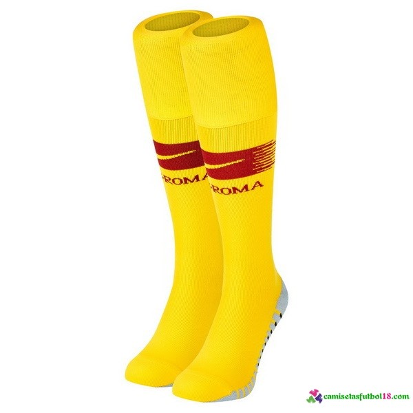 Calcetines 1ª Kit As Roma 2018 2019 Amarillo