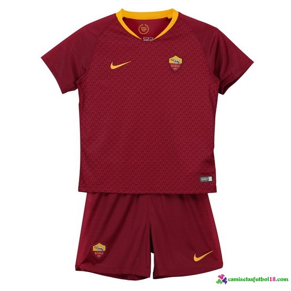 Camiseta 1ª Kit AS Roma Niños 2018 2019 Rojo