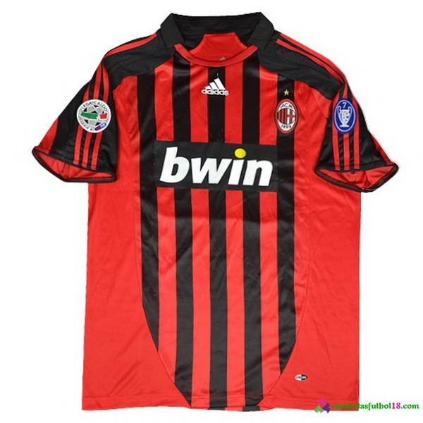 Camiseta 1ª Kit AC Milan Retro 38899 Rojo