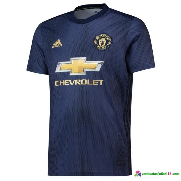 Camiseta 3ª Kit Manchester United 2018 2019 Azul