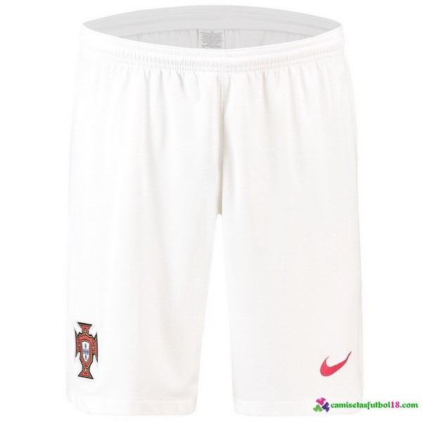 Pantalones 2ª Kit Portugal 2018 Blanco
