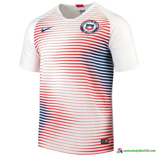 Camiseta 2ª Kit Chile 2018 Blanco