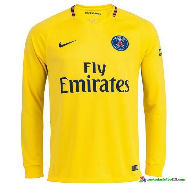 Camiseta 2ª Kit Paris Saint Germain ML 2017 2018 Amarillo