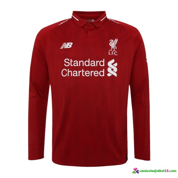 Camiseta 1ª Kit Liverpool ML 2018 2019 Rojo