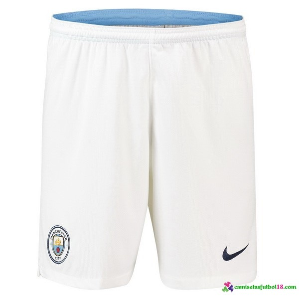 Pantalones 1ª Kit Manchester City 2018 2019 Blanco