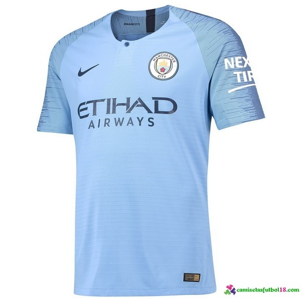 Camiseta 1ª Kit Manchester City 2018 2019 Azul