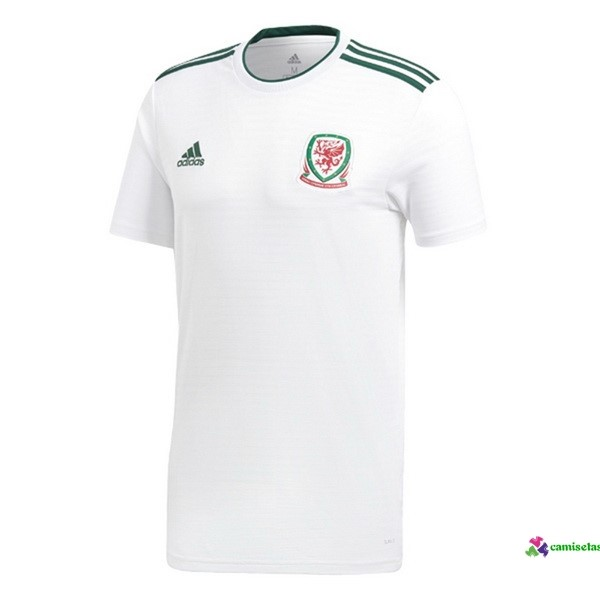 Camiseta 2ª Kit Gales 2018 Blanco