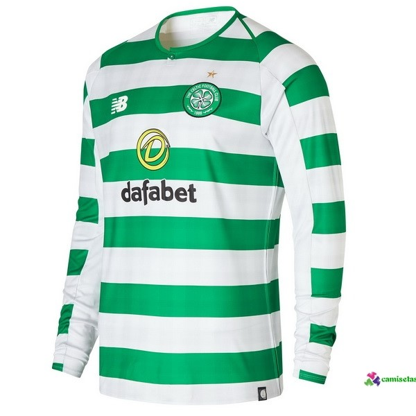 Camiseta 1ª Kit ML Celtic 2018 2019 Verde
