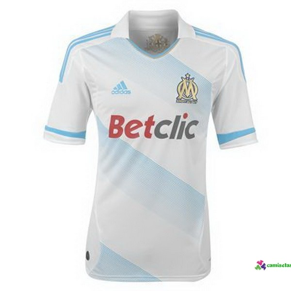 Camiseta 1ª Kit Marsella Retro 2011 2012 Blanco
