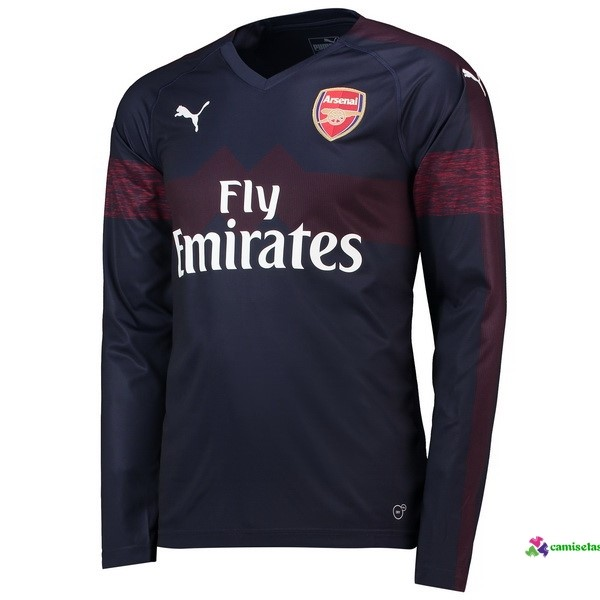Camiseta 2ª Kit ML Arsenal 2018 2019 Azul Marino