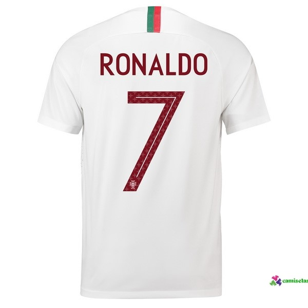 Ronaldo Camiseta 2ª Kit Portugal 2018 Blanco
