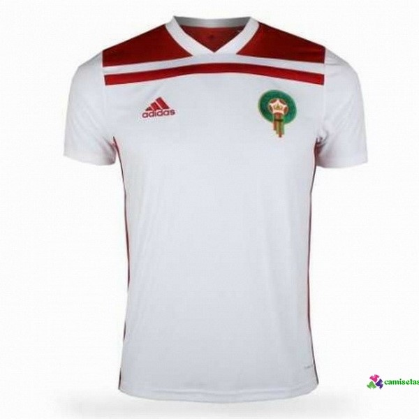 Camiseta 2ª Kit Marruecos 2018 Blanco