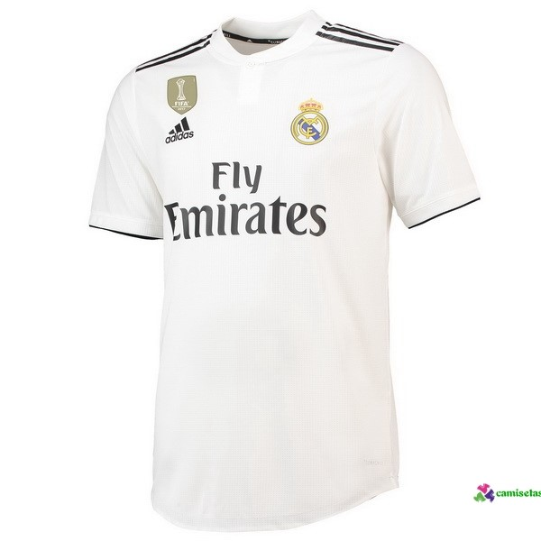 Camiseta 1ª Kit Real Madrid 2018 2019 Blanco