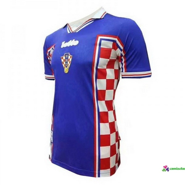 Camiseta 2ª Kit Croatia Retro 1998 Azul