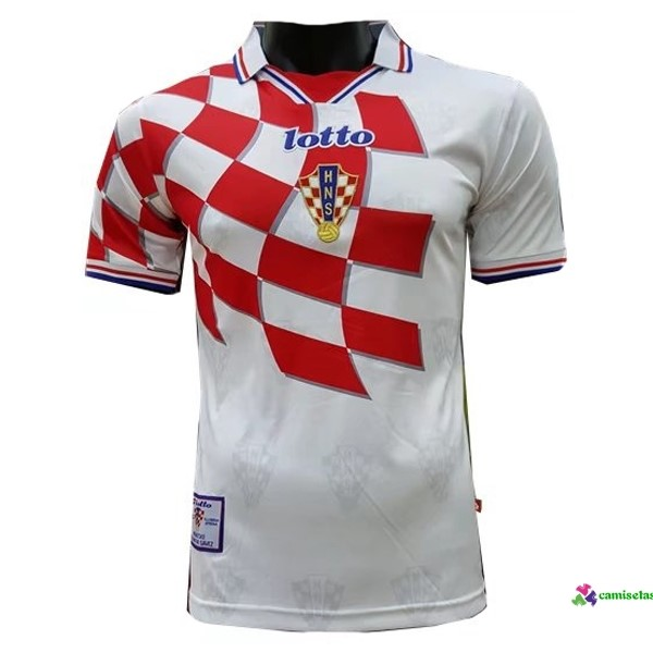 Camiseta 1ª Kit Croatia Retro 1998 Blanco