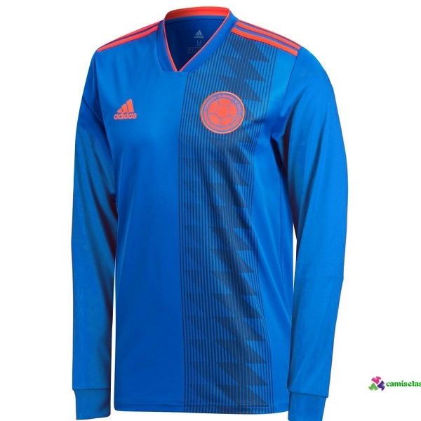 Camiseta 2ª Kit ML Colombia 2018 Azul