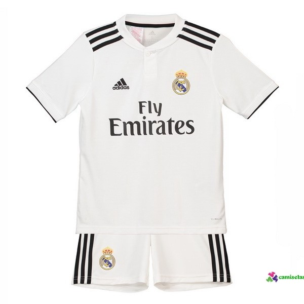 Camiseta 1ª Kit Niños Real Madrid 2018 2019 Blanco
